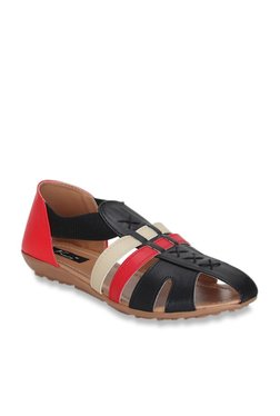 905583c43cc6 Kielz Black   Red Casual Sandals
