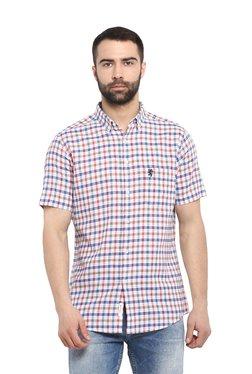 c3291de85da Red Tape Blue   Red Half Sleeves Regular Fit Shirt