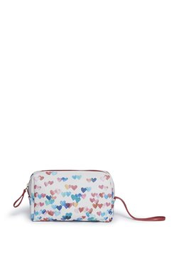 642788d98 Westside White Heart Printed Travel Pouch