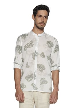 d82ff21d417 ETA by Westside White Resort Fit Leaf Print Shirt