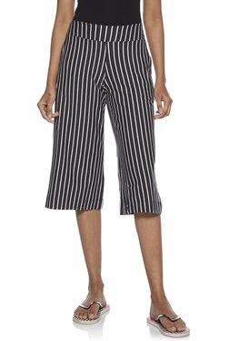 257a11d6d Wunderlove by Westside Grey Striped Nightwear Culottes