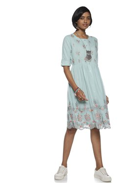 51c3246ed65 Bombay Paisley by Westside Turquoise Dress