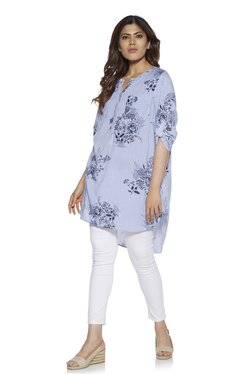 d00d6be5591a2 Gia curve by Westside Blue Oasis Floral Tunic