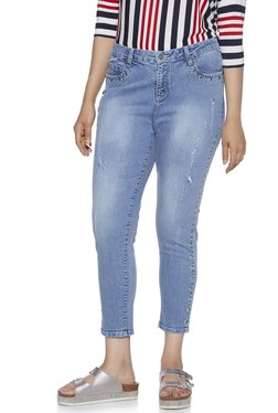 38940594565 Sassy Soda curve by Westside Blue Distressed Robby Jeans