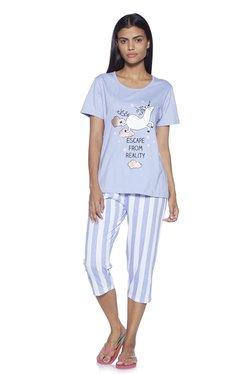 367105462fa Wunderlove by Westside Lilac T-shirt And Pyjama Set