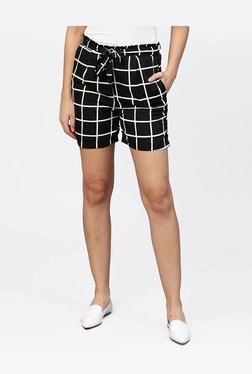 479bec1a55d Aasi - House of Nayo Black Chequered Shorts
