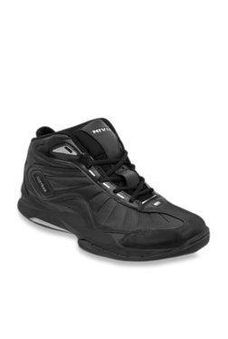 1ba4e8fef5d90 Nivia Combat 1 Black Basketball Shoes