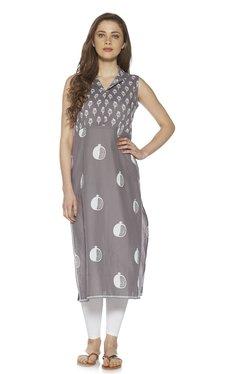 e82fa9a42 Zudio Grey Pure Cotton Pathani Kurta