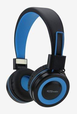 Portronics POR-011 Muffs G On The Ear Bluetooth Headphone with Mic (Blue)