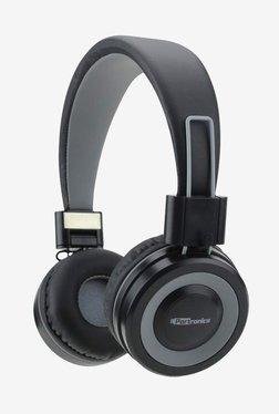 Portronics POR-012 Muffs G On The Ear Bluetooth Headphone with Mic (Black/Grey)