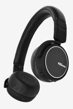 Portronics POR-004 Muffs R On The Ear Bluetooth Headphone with Mic (Black)