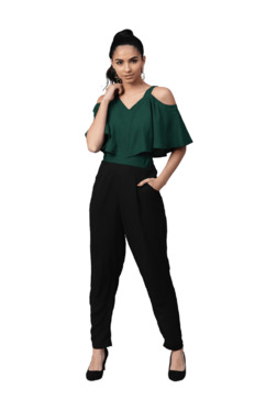 2a4dfaf63f Street 9 Green   Black Elbow Sleeves Jumpsuit