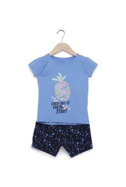 29ba82e15 Zudio Kids Blue Pineapple T-Shirt And Shorts Set