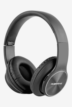 Ambrane WH-74 On The Ear Bluetooth Headphone with Mic (Black)