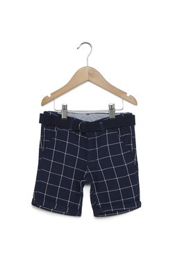 da526326cb259d HOP Kids by Westside Navy Checked Shorts with Belt