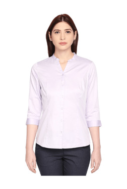 c1e3ce04678a Annabelle by Pantaloons Lilac Regular Fit Shirt