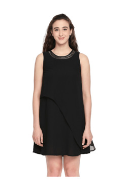 7f1fb3c72cd Forever Glam by Pantaloons Black Above Knee Dress