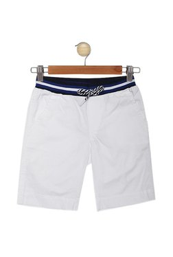 2bd7f2151c6307 United Colors of Benetton Kids White Solid Shorts