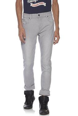 ac5df1b9e384 Nuon by Westside Light Grey Slim Fit Hendrix Jeans