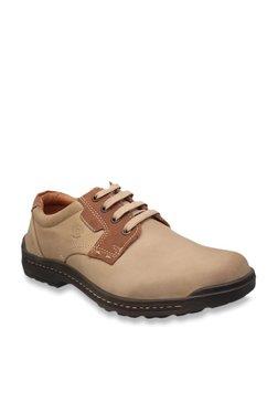 Franco Leone Khaki Derby Shoes