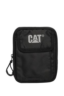 1727a724e2f132 Cat Urban Mountaineer Pollux Black Polyester Sling Handbag