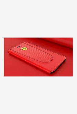 Ferrari California T Series Leather Flip Cover For Apple iPhone 8 (Red)