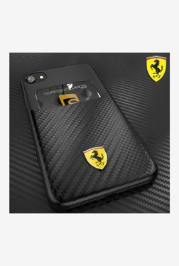 Ferrari SP America Series inbuilt Credit Card Holder Back Cover For Apple iPhone 7 (Black)