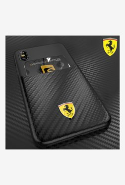 Ferrari SP America Series inbuilt Credit Card Holder Back Cover For Apple iPhone X (Black)
