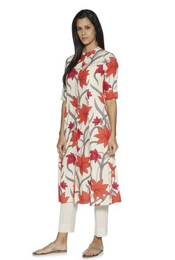 ab7b7d67dc5 Utsa by Westside Off White Floral Patterned A-line Kurta
