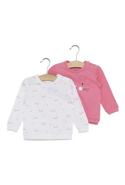 3174989b4 Baby HOP by Westside Candy Pink Cat T-Shirt Set Of Two