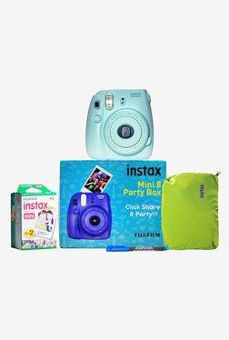 Fujifilm Instax Mini 8 Party Box Instant Camera (Blue)