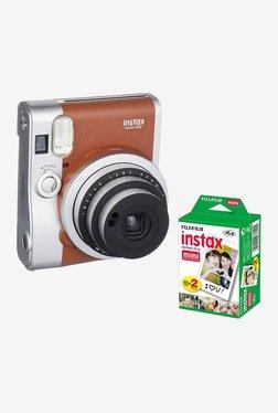 Fujifilm Instax Mini 90 Neo Classic with Instax mini film 20 sheets Instant Camera (Brown)