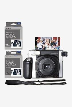 Fujifilm Instax Wide 300 with Monochrome Film 20 Shots Instant Camera (Black)