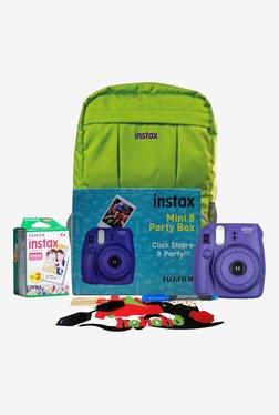 Fujifilm Instax Mini 8 Party Box Instant Camera (Purple)