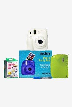 Fujifilm Instax Mini 8 Party Box Instant Camera (White)