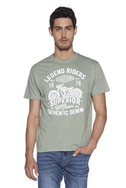 34869975226430 Nuon by Westside Light Olive Slim Fit T-Shirt