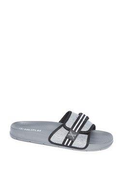 655843741d73 SOLEPLAY by Westside Grey Melange Velcro Slides