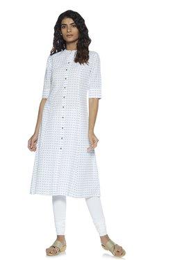 812ce8eca7 Zudio White Pure Cotton Straight Kurta