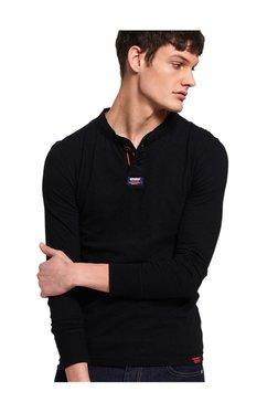 Superdry Black Cotton Regular Fit T-Shirt