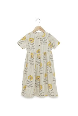 6eb4d2648aa Utsa Kids by Westside Off White Floral Fit-And-Flare Dress
