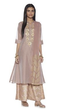 c292b47a72f Vark by Westside Dull Pink A-Line Kurta And Palazzo Set