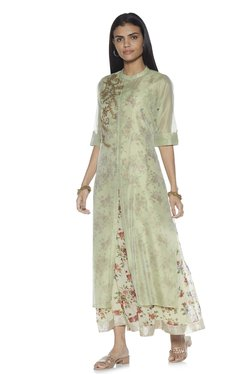 3d2b085b84b Vark by Westside Mint Straight Kurta With Maxi Dress Set