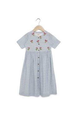 d52ea373f4b Utsa Kids by Westside Indigo Floral Fit-And-Flare Dress