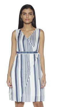 8a8dc59e6b7 LOV by Westside Blue Striped Sharon Dress