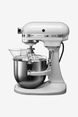 KitchenAid 5KPM5BWH Bowl-Lift 300W 1 Jar Stand Mixer Grinder (White)