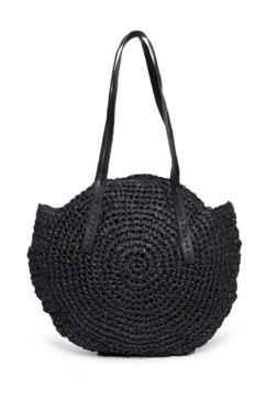 5780ed28ba69 Nuon by Westside Black Raffia Hobo Bag
