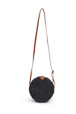 7b392e829 Nuon by Westside Black Circular Weave Design Sling Bag