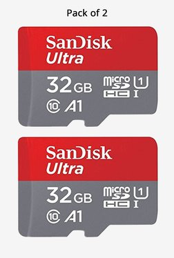 SanDisk 32GB Ultra microSHDC UHS-I Card (Pack of 2)