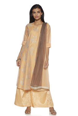 57de6f58c7c Vark by Westside Peach Embroidered Kurta And Palazzo Set