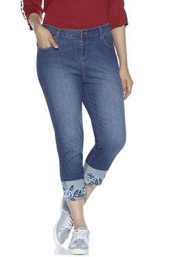 070468260924ef Sassy Soda curve by Westside Blue Embroidered Truny Jeans